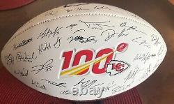 Super Bowl LIV Champions Kansas City Chiefs Autograph Football, Reprinted New