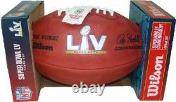 Super Bowl LV 55 Chiefs Buccaneers Bucs Official Wilson Authentic Game Football