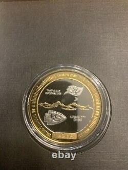 Super Bowl LV 55 Tampa Bay Bucs Kansas City Chiefs Official 2 Tone Flip Coin