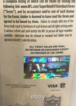Super Bowl LV original Ticket+Personal Protection Pack Chiefs-Buccaneers 2/7/21