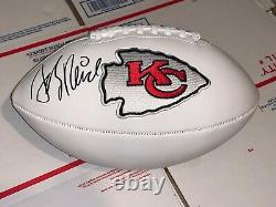 Superbowl Champs Kansas City Chiefs hand signed football of Coach Andy Reid