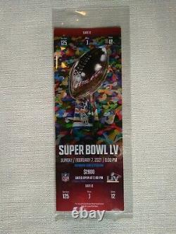 TICKET SUPER BOWL LV 55 Kansas City Chiefs Tampa Bay Buccaneers 2/7/2021 NFL