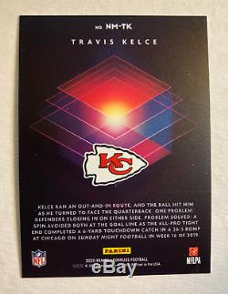 TRAVIS KELCE 2020 Donruss NIGHT MOVES SSP Case Hit Kansas City Chiefs Super Bowl