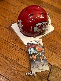 TYRANN MATHIEU Signed KANSAS CITY CHIEFS MINI Helmet Super Bowl Champs RARE JSA