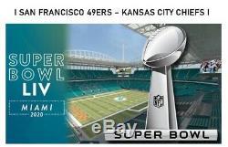 Ticket Super Bowl 2 Feb 2020 Miami I San Francisco 49ers Kansas City Chiefs