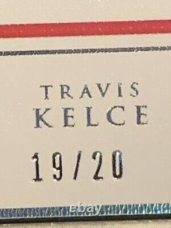 Travis Kelce 2020 Panini Impeccable One Ounce Silver Bar /20 KC Chiefs Superbowl