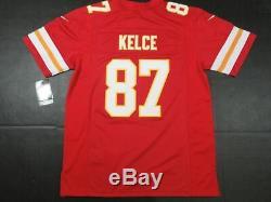 Travis Kelce #87 Kansas City Chiefs Super Bowl LIV 54 Game Limited Jersey Red