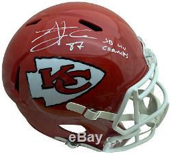 Travis Kelce Autographed Chiefs Super Bowl 54 LIV Full Size Replica Helmet JSA