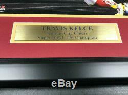 Travis Kelce Chiefs Super Bowl LIV Signed Autographed Card Framed 8x10 Photo