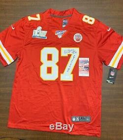 Travis Kelce Signed JSA Jersey Super Bowl LIV 54 Champions Kansas City Chiefs 87