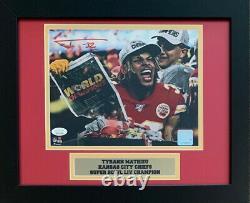 Tyrann Mathieu Autographed Chiefs Super Bowl 54 LIV 8x10 Framed Photo JSA COA