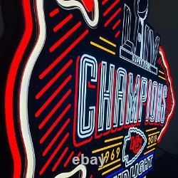 UE, Kansas City Chiefs 3ft x 2ft Champions, LED Neon Sign, Man Cave, Sports Bar