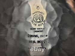 VERY RARE. ART ROONEY The Chief Pewter superbowl Wendell August plate Steelers