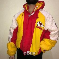 Vintage 90s STARTER NFL Kansas City CHIEFS Super Bowl Champions Puffer Jacket XL