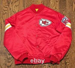 Vintage Kansas City Chiefs Jacket Starter Youth Medium NFL Football Super Bowl