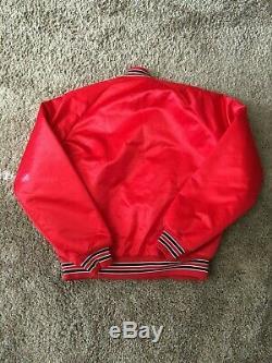 Vintage Kansas City Chiefs satin chalk line Jacket Size Large excellent