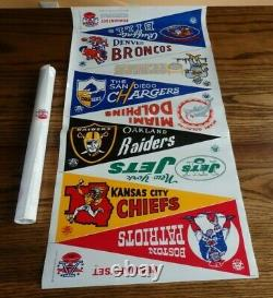 Vintage Raiders In GOLD Dolphins 1st Pennant 1966 AFL Set Chiefs Super Bowl 1 yr
