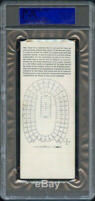 1967 Super Bowl 1 I Chiefs Packers Complet D'or Ticket Psa 5 Pop 2 Seulement 7 Supérieur