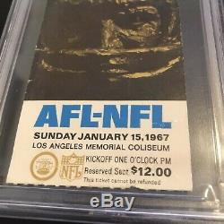 1967 Super Bowl I 1 Ticket Stub Or Variant Psa Fr 1.5 Chiefs Packers Afl NFL