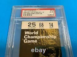 1967 Super Bowl I Bart Starr White Ticket Stub Packers Chefs Psa 4