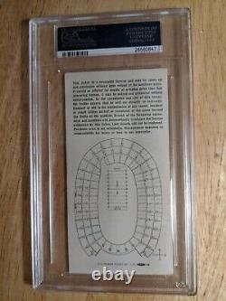 1967 Super Bowl I Packers Vs Chiefs Psa 3 Graded Ticket Stub Gold Var. Rare