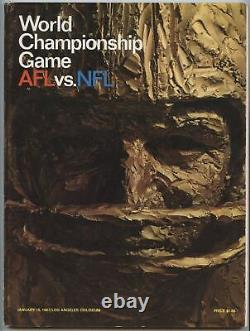 1967 Super Bowl I Programme Officiel GB Packers Vs Kc Chiefs Afl NFL Sb 1 Cg1