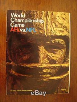 1967 Super Bowl I Un Jeu Green Program Bay Packers Kansas City Chiefs NFL Afl