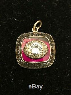 1969 Champion Du Monde Super Bowl IV Pendant Kansas City Chiefs