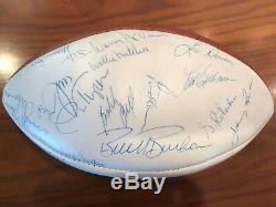 1969 Kansas City Chiefs Équipe Des Champions Du Super Bowl Autographié Balle Jsa Z51105