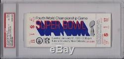 1970 Football Super Bowl LV Complet Chiefs Billets Vikings Len Dawson 6 Psa