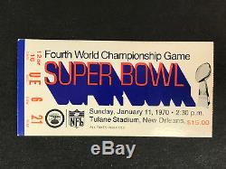 1970 Super Bowl IV Ticket Stub Kc Chiefs Minnesota Vikings Belles Plis No (a)