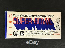 1970 Super Bowl IV Ticket Stub Kc Chiefs Minnesota Vikings Len Dawson Mvp (c)