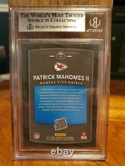 2017 Donruss Optic Patrick Mahomes II Rated Rookie Bgs 8.5 Chiefs Super Bowl