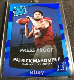 2017 Panini Donruss Press Proof Patrick Mahomes Rookie Rc Super Bowl Mvp Chiefs