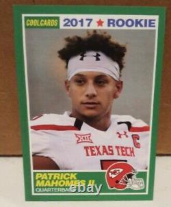 2017 Patrick Mahomes II Aceo Rookie Card #15 Kansas City Chiefs Rare Rc