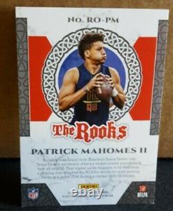 2017 Patrick Mahomes II Panini The Rooks Kansas City Chiefs Nfl-super Bowl Mvp