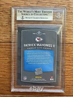 2017 Rated Rookie Patrick Mahomes Donruss Bgs 9.5 Gem #327 Chiefs Super Bowl