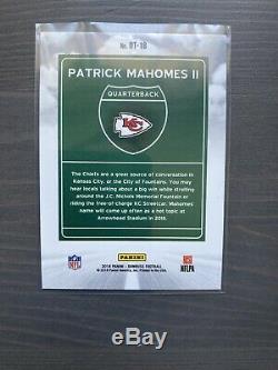 2018 Donruss Downtown Patrick Mahomes Kansas City Chiefs Super Bowl Mvp