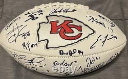 2019 2020 Kansas City Chiefs Super Bowl LIV Signé Autographed Football Rare