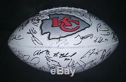 2019 Chiefs De Kansas City Signé Football Autograph Mahomes Kelce Super Bowl 54