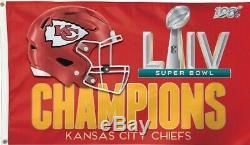 2019 Kansas City Chiefs Équipe De La NFL Roster Signature Superbowl Boule Avec Support