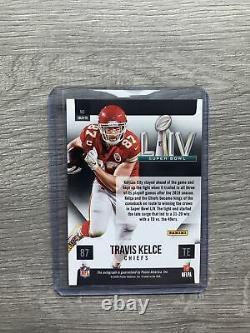 2020 Chroniques Travis Kelce Super Bowl Signatures LIV Auto Chiefs Silver Read