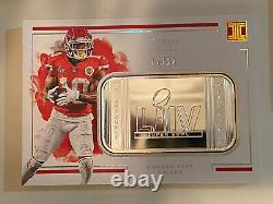 2020 Impeccable Football Tyreek Hill Silver Bar Super Bowl 17 /20 Chiefs