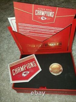 2020 Kansas City Chiefs Season Ticket Holder Box / Flag Super Bowl Champions Kc