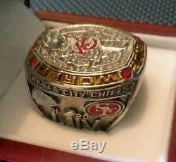 2020 Kansas City Chiefs Super Bowl Championship LIV Mahomes Mvp Ring Sz13 Withbox