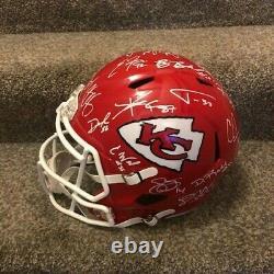 2020 Kansas City Chiefs Team Signed Rare Full Size Helmet Super Bowl