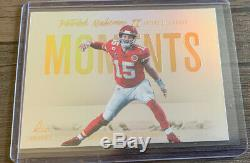 2020 Luminance Patrick Mahomes II Ssp Moments Chefs M14 Case Hit Super Bowl