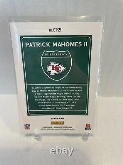 2020 NFL Optic Patrick Mahomes Sssp Chefs Superbowl Edition Downtown Rare