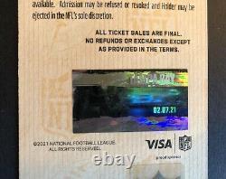 2021 Super Bowl LV 55 Ticket Kansas City Chiefs / Tampa Bay Buccaneers Mint