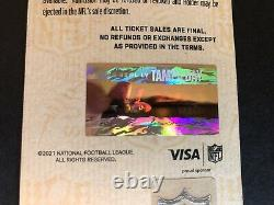 2021 Super Bowl LV 55 Ticket Kc Chefs / Tampa Bay Buccaneers 3600 $ Face Mint